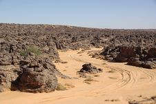 Free Trail In Libyan Desert Stock Image - 13575431