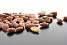 Salty Almonds Royalty Free Stock Photos