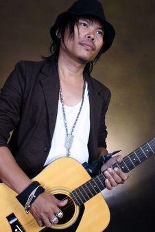 Guitar Man Musician Royalty Free Stock Image