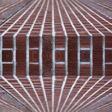 Brick Wall Edge Abstract Stock Image