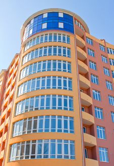 Large Colored Building. Royalty Free Stock Images