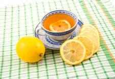 Free Tasty Fragrant Tea With Lemon Royalty Free Stock Photos - 13578068