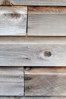 Brown Wooden Wall Closeup Royalty Free Stock Image