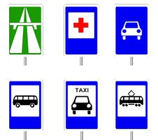 Traffic Signs. Isolate. Stock Photo