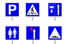 Traffic Signs. Isolate. Royalty Free Stock Image