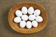 Free Eggs In Tray, Top View. Stock Image - 13578541