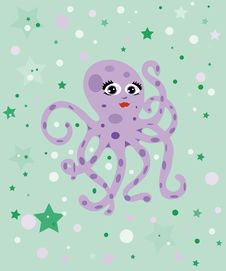 Free Cheerful Octopus Stock Images - 13578594