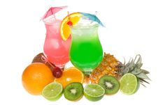 Free Alcohol Cocktails With Fruits Royalty Free Stock Photos - 13579118