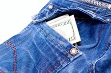 Dollars In Back Pocket Stock Photography
