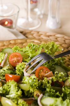 Free Healthy Green Salad Stock Image - 13579191