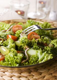 Free Healthy Green Salad Royalty Free Stock Photo - 13579255