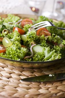 Free Healthy Green Salad Royalty Free Stock Photos - 13579328