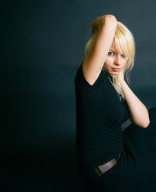 Beautiful Blonde In A Studio Royalty Free Stock Images
