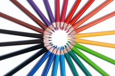 Free Assortment Of Colored Pencils With Shadow Royalty Free Stock Photo - 13579445