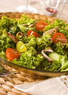 Free Healthy Green Salad Royalty Free Stock Images - 13579459