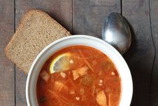 Soup And Bread Stock Image