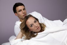 Free Young Beautiful Couple In The Spa Stock Images - 13579584