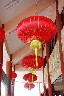 Free Chinese Red Lantern Royalty Free Stock Photography - 13579627
