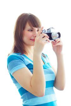Free Girl Photographer Stock Image - 13579861
