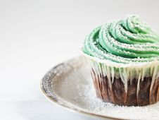Cream Cheese Cupcake Royalty Free Stock Image