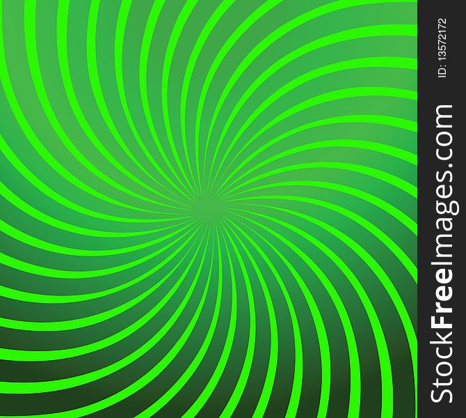 Twirl Green Abstract