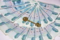 Free Russian Money And The Key Royalty Free Stock Image - 13580156