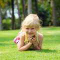 Free Little Girl On Meadow Stock Image - 13588811