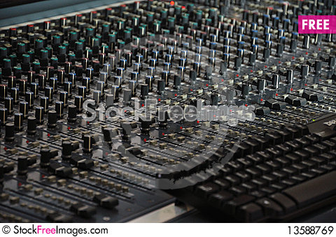 Free The Mixing Desk - Pattern Royalty Free Stock Images - 13588769
