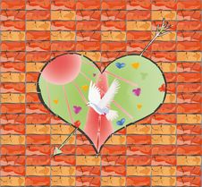 Free The Love World Behind A Wall Royalty Free Stock Photo - 13580225