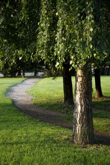 Free Path In The Park Royalty Free Stock Photos - 13580428