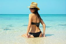 Free Beautiful Women  On The Beach Royalty Free Stock Photo - 13580635