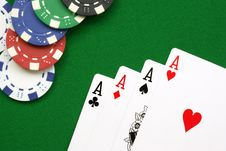 Free Four Aces Royalty Free Stock Photo - 13581185