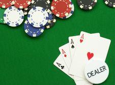 Free Four Aces Royalty Free Stock Photos - 13581328