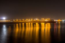 Free Harbour At Night 4 Royalty Free Stock Image - 13581696