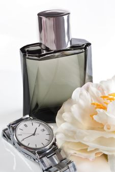 Free Men S Eau De Toilette And Watches Royalty Free Stock Image - 13582136