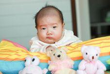 Free Baby Lying Prone Stock Photos - 13582963