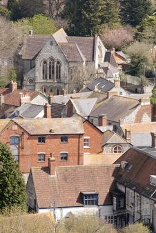 Free View Of Mere,Wiltshire From Castle Hill Stock Photos - 13583333
