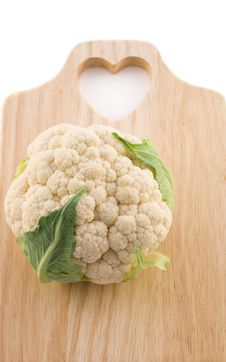 Free Cauliflower  On Cutting Board Royalty Free Stock Photography - 13583727
