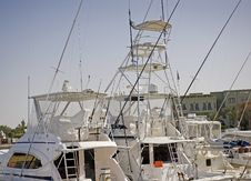 Free Sport Fishing Boats In A Marina Royalty Free Stock Images - 13583739