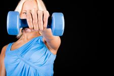Free Image Of Sexy Woman With Dumbbells Royalty Free Stock Images - 13583749