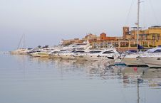 Free Pleasure Boats In A Marina Stock Images - 13583834