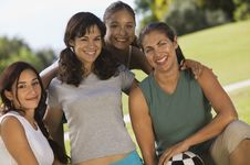 Free Four Women In Park Royalty Free Stock Image - 13584086