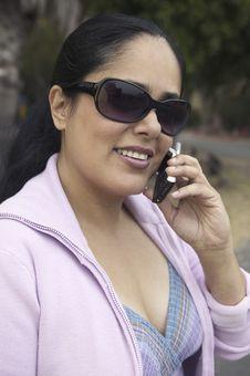 Free Woman Using Mobile Phone Stock Image - 13584171