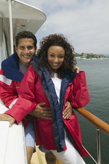 Free Couple On Yacht Royalty Free Stock Photo - 13584835