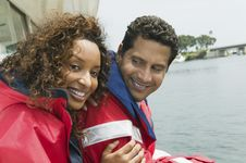 Free Couple On Yacht Royalty Free Stock Image - 13584836