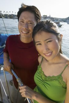 Free Couple At Helm On Boat Stock Image - 13584841