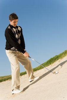 Free Golfer Hitting Ball Stock Photos - 13584943