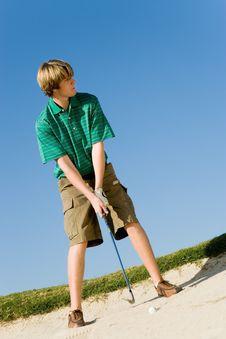 Free Golfer Hitting Ball Royalty Free Stock Photo - 13584945