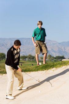 Free Golfer Hitting Ball Royalty Free Stock Photo - 13584985