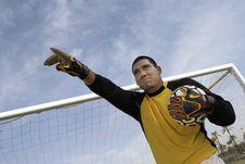 Free Goalkeeper Pointing Stock Photo - 13585060